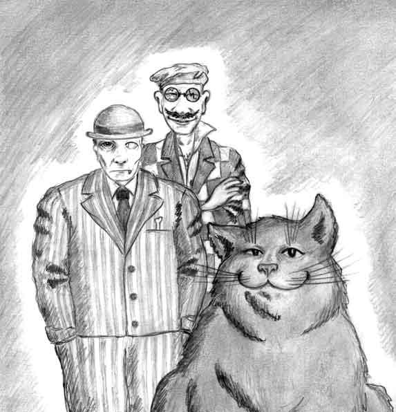 Рисунок лысый кот